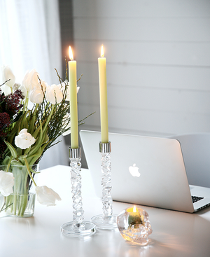 Carat Candlestick Clear 2-pack - Orrefors