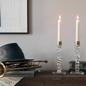 Carat Candlestick Brass 2-pack - Orrefors