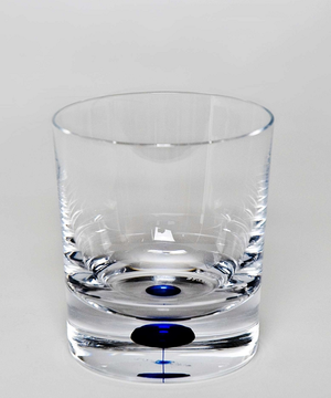 Intermezzo Blue Old Fashioned Whiskey Glass - Orrefors
