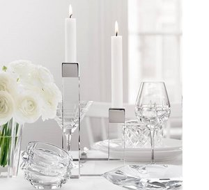 Chimney Candlestick 2 arms  - Orrefors