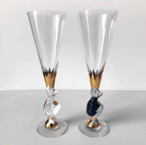 Nobel Sparkling Devil Glass  Duo - Orrefors Champagne