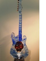 Guitar with Head Blue