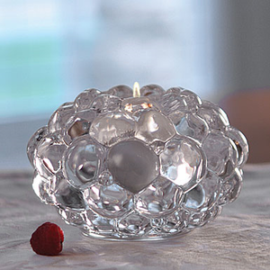 Raspberry Votive Clear Medium - Orrefors