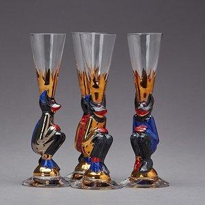 Nobel Devil Glass Blue Shot Schnapps - Orrefors