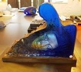 Sculpture Blue with Head