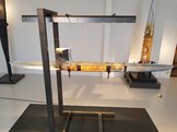 Boat with Janus in steel frame Medium