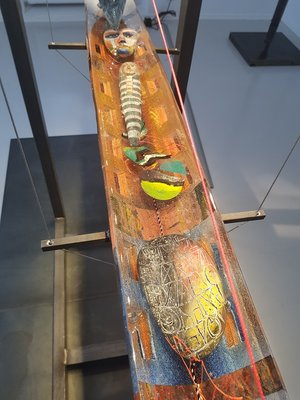 Boat with Janus in steel frame Medium Unique - Kosta Boda