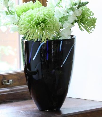 Kosta Boda Contrast Vase Black Crystal Of Sweden