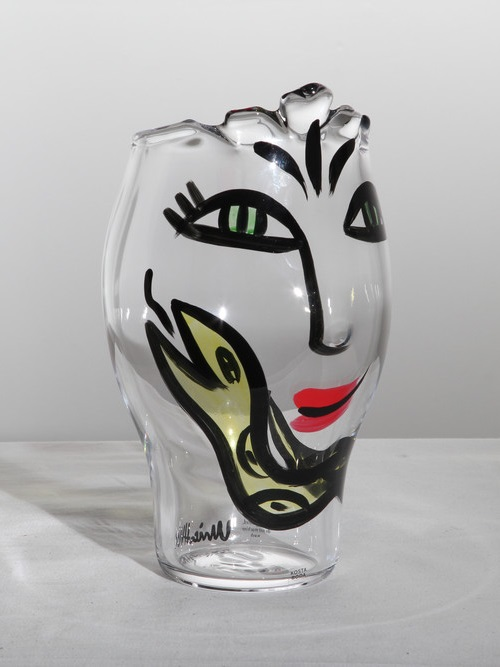Kosta Boda Open Minds Vase Special Clear Yellow Crystal Of Sweden