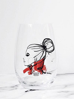 Want You Glass Red 2-pack - Kosta Boda